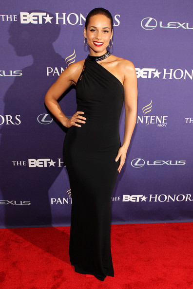 Alicia Keys red carpet BET Honors 2013