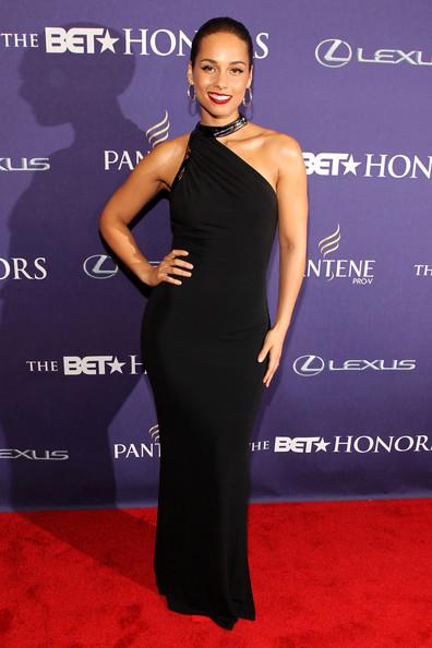 Alicia Keys red carpet BET Honors 2013