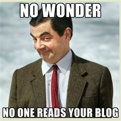 noone reads your blog